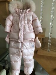 GIRL ADDPearl Pink down padded snow set size 9 Month Ret.$575 $99.00