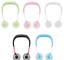 Rechargeable Sports fan USB Portable Hands-free Neck Hanging desk travel fitness $13.11