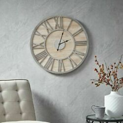 Luxury Natural Color Contemporary Rustic Mason Wall Clock 23x23quot; $100.99
