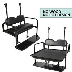 Steel Club Car Precedent Golf Cart Rear Flip Seat Kit Black $279.05