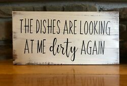 funny dishes sign rustic home decor hand made farmhouse primitive humor kitchen $12.99