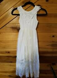 Vintage Lace ~ New With Tags ~ Off White Beach Easter or Portrait Dress Size 8 $32.99