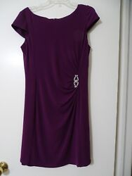 Sangria Purple Party Cocktail Dress Size12 EUC VERY CLEAN $9.99