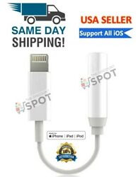 Lightning to 3.5mm Headphone Jack Adapter cord dongle iPhone 7 8 PLUS X XR XS 11 $3.29