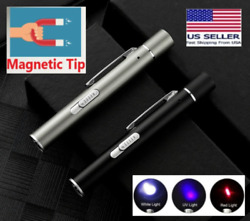 SUPER LASER POINTER USB Magnetic Rechargeable Black Cat Toy Red UV Flashlight $7.95