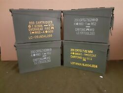 AMMO CAN 4 PACK ONCE USED MILITARY 7.62 30 Cal M19A1 ** FREE SHIPPING**