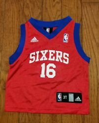 ADIDAS SIXERS Basketball # 16 JERSEY Red 3t Toddler SPEIGHTS $19.99