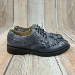BARNEYS NEW YORK Co Op Leather Wingtip Lace Up Dress Shoes Mens Size 8 M $39.90