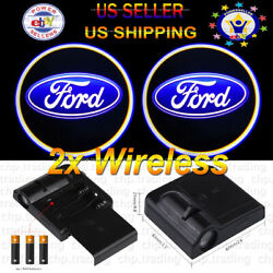 FORD  2x Wireless Ghost Shadow Projector Logo Cree LED Light Courtesy Door  $19.95