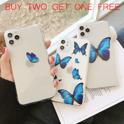 For iPhone 11 Pro Max X XR Xs Max 7 8 SE2 Butterfly Cute TPU Soft Phone Case $6.99