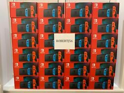 Nintendo Switch Console With Neon Red and Blue Joy Con New Sealed (Newest Model) $479.95