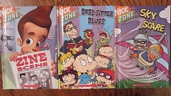 Nickelodeon Nick Zone Lot of 3 Hardcovers Rocket Power Rugrats Jimmy Neutron $8.99