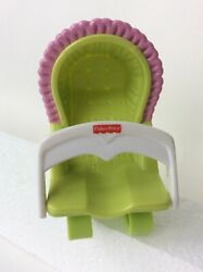 Fisher Price Loving Family Bouncy Chair Bouncer Baby Seat High Green Pink Doll $2.99