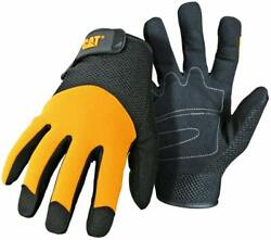 CAT CAT 012215 LARGE PADDED PALM UTILITY GLOVES WITH MESH BACK ADJUSTABLE WRIST $12.95