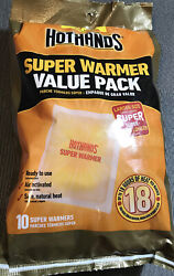 HotHands Body & Hand Super Warmers - 18 Hours Of Heat - Pack Of 10 $11.99