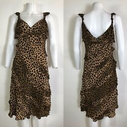 Rare Vtg Moschino Cheap amp; Chic Leopard Print Dress M $198.00
