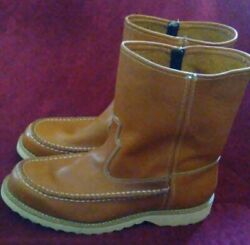 Sears Boot steel toe Men Size 9 Made in USA Genuine Leather Upper $99.99
