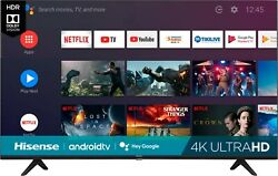50 inch TV 4K UHD with HDR Smart LED Sale Clearance Xbox PS4 Stream Andriod Slim