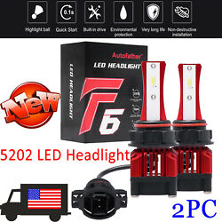 LED Headlight Bulbs 5202 3000W Conversion Kit Auto Parts Lamps Waterproof 6500K $15.20