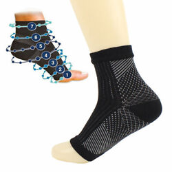 1Pair Compression Socks Foot Ankle Protection Sleeves Cycling Hiking Tennis Bulk $1.91