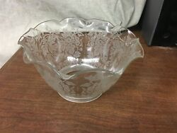 Large Etched Lamp Shade Flowers 4quot; Fitter $24.95