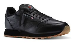Reebok Classic Leather Black Gum Mens Running Tennis Shoes Item 49798 $61.95
