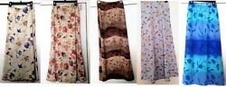 Choice of Ladies Brand Names Maxi A-Line Floral Print Skirts Sizes S M L $24.95