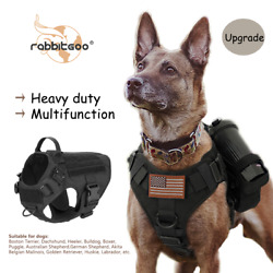 rabbitgoo Tactical Dog Harness No pull Extra Large Military Training Vest Handle $30.39