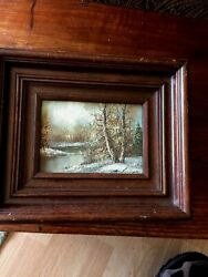 Antique Oil Painting signed $99.99
