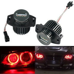 Fit For BMW E90 E91 3 Series 325 Red LED Angel Eyes Halo Ring Marker Lights Bulb