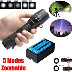 Super Bright 1000000Lumen Flashlight Rechargeable High Power Hunting Torch USA $9.79