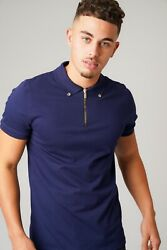 Mens Muscle Fit Polo Shirt Designer Shirts Slim Fit Pique Tee Golf Work Casual