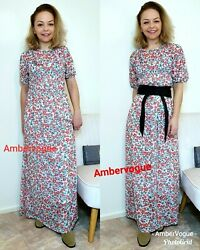 ZARA FLORAL PRINTED MIDI DRESS FLOWING OVERSIZED SIZE S  M $35.02