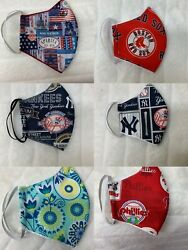 100% COTTON HANDMADE FACE MASK Reversible With washable filter $10.99