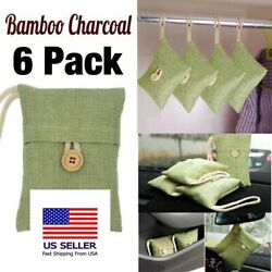 6 Pack Air Purifying Bag Nature Fresh Style Charcoal Bamboo Purifier Mold Odor $24.97