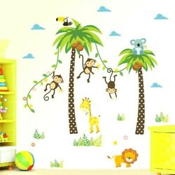 Wall Kids Sticker Animal Girraffe Tree Nursery Room Decoration Removable PVC $15.97