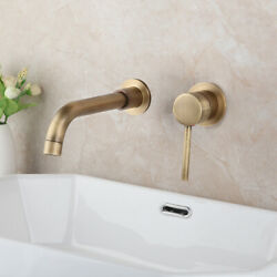 Bathroom Wall Mounted Tub Antique Brass 2PCS Waterfall Spout Mixer Tap Faucets $64.99