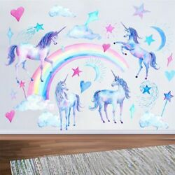 Unicorn Waterproof Wall Stickers Kids Bedroom Decoration Removable Non Toxic $14.09