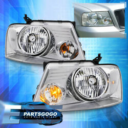For 04-08 Ford F150 Lincoln Mark LT Chrome Clear Replacement Headlights Lamps $71.99