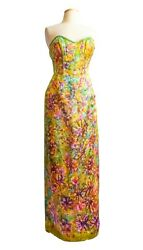 NEW Ulla Maija beach gown Bohemian gala event wedding Dress pink red purple 4 8