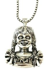 Classic Horror Movie Annabelle Character Metal Pendant Necklace