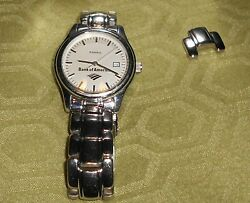 Mens or Womens Fossil Watch: quot;Bank Of Americaquot; With Tin Pre Owned quot;Needs Battery $24.99