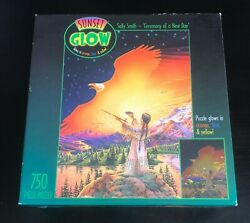 Ceremony of a New Day Puzzle Sealed 750 pcs Sunset Glow in The Dark JigsawCeaco $13.95