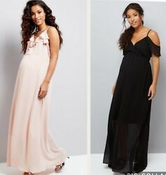 New Look Long Maternity Evening wedding dresses.Pink or Black.81012 amp; 14.BNWT GBP 9.99