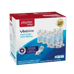 Playtex Baby VentAire Anti Colic Anti Reflux Baby Bottle Newborn Gift Set $19.99