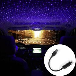 USB Car Interior Atmosphere Starry Sky Lamp Ambient Star Light LED Projector US $8.48