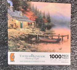 Ceaco Thomas Kinkade The End of a Perfect Day 1000 Piece puzzle 27 x 20 New $29.99