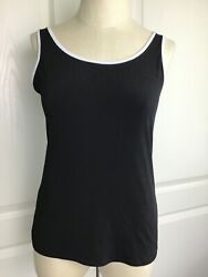 Robert Kitchen Canada Women's Black And White Tank M $4.70