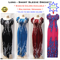 Women's Casual Evening Party Long Summer Short Sleeve Boho Maxi Dress M-XL $15.99