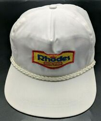 RHODES BAKE N SERV vintage white adjustable cap hat bread rolls $19.95